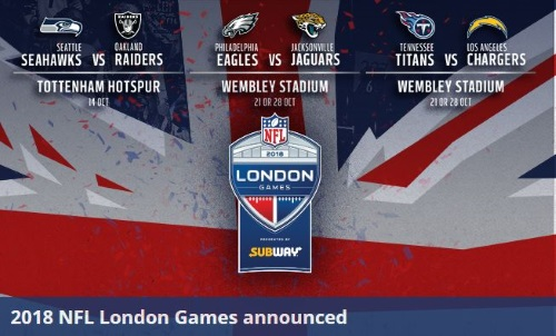 Diese NFL Teams spielen in UK