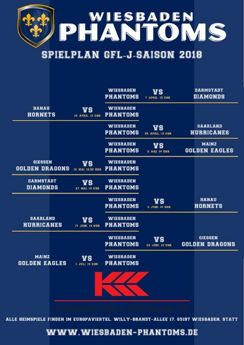 Start der Wiesbaden Phantoms in GFLJ