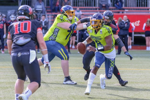 Assindia Cardinals gegen Cologne Falcons