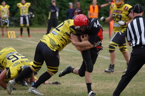 Die Chemnitz Crusaders besiegen Wernigerode Mountain Tigers