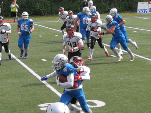 Saarland Hurricanes ziehen in die Playoffs im Junior Bowl