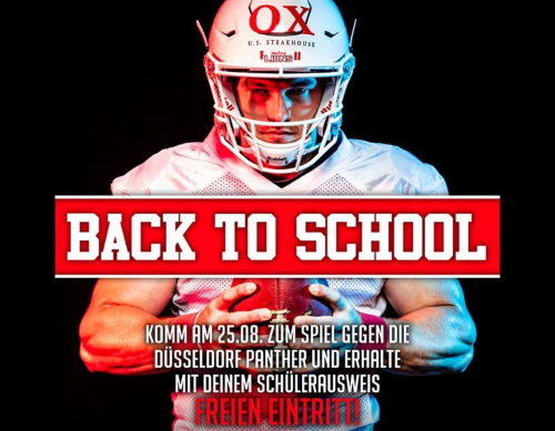 Back to School Freikartenaktion der New Yorker Lions Braunschweig