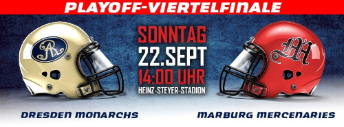 Playoff Viertelfinale, Dresden Monarchs  Marburg Mercenaries