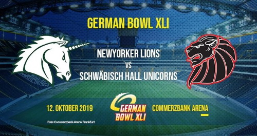 German Bowl 2019 in Frankfurt Commerzbank Arena