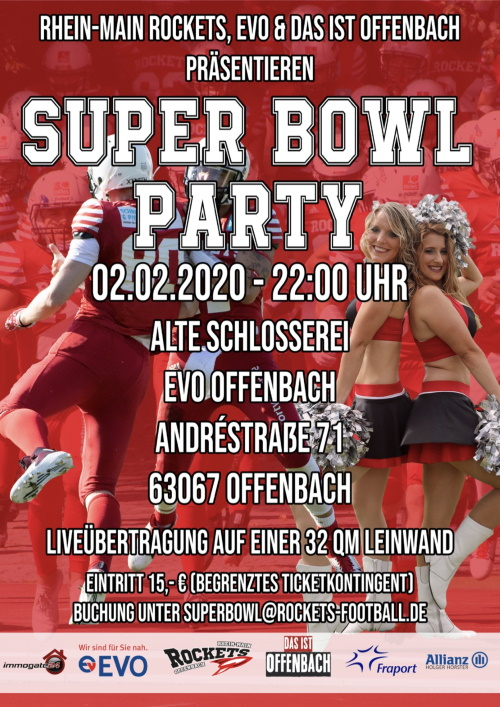 Superbowl Party der Rhein Main Rockets Offenbach