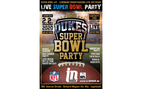 Dukes feiern Super-Bowl-Party beim TV 1861
