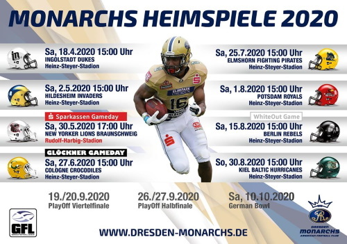 Monarchs starten am 18. April mit Pre-Season-Game in die Saison