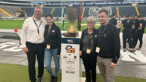 Randy Ambrosie mit Familie beim German Bowl 2019