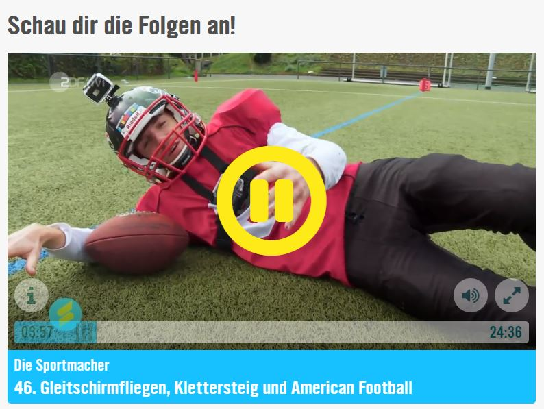 American Football Thema auf KiKA