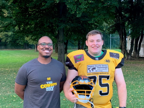 Munich Cowboys Headcoach Garren Holley und Thomas Heller