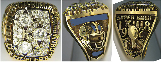 Superbowl XIII Sieger-Ring