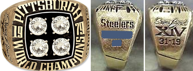 Superbowl XIV Sieger-Ring