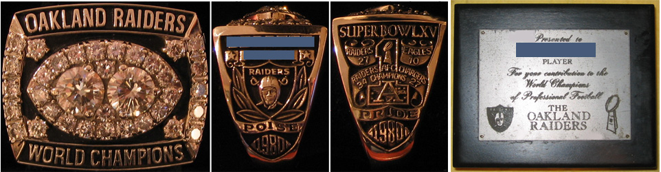 Superbowl XV Sieger-Ring