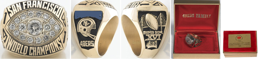 Superbowl XVI Sieger-Ring