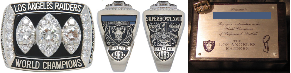 Superbowl XVIII Sieger-Ring