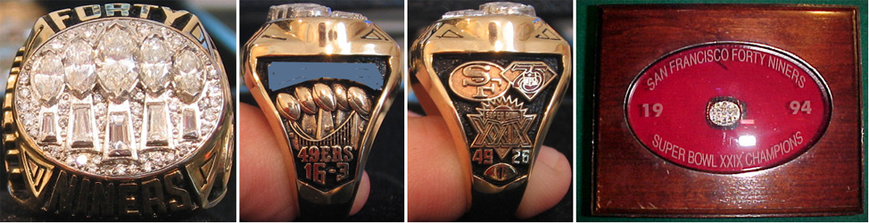 Superbowl XXIX Sieger-Ring
