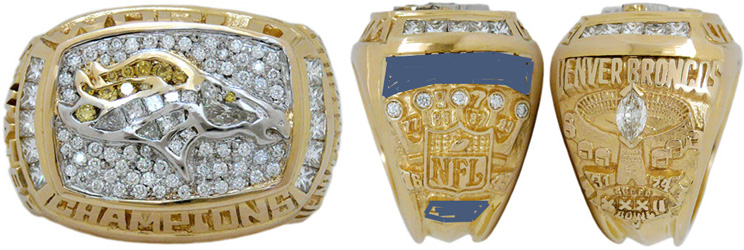 Superbowl XXXII Sieger-Ring