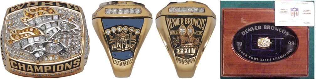 Superbowl XXXIII Sieger-Ring