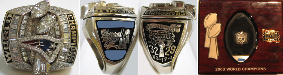 Superbowl XXXVIII Sieger-Ring