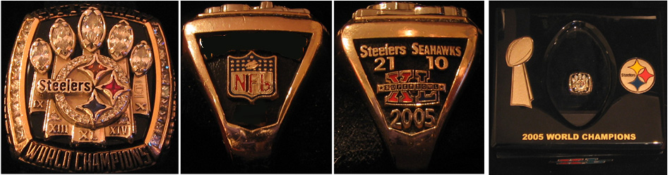 Superbowl XL Sieger-Ring